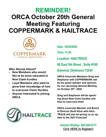 ORCA General Meeting - Coppermark & Hailtrace